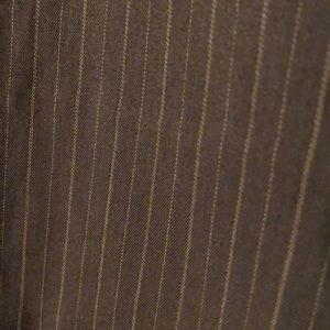 Brown pin strip pants
